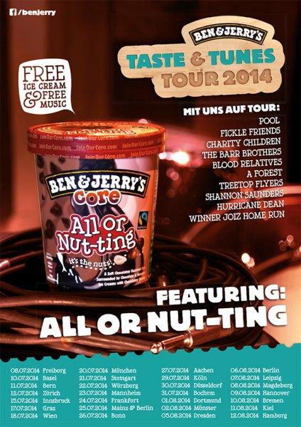 Ben & Jerry's Taste & Tunes Tour 2014 - Eis umsonst! (REMINDER)