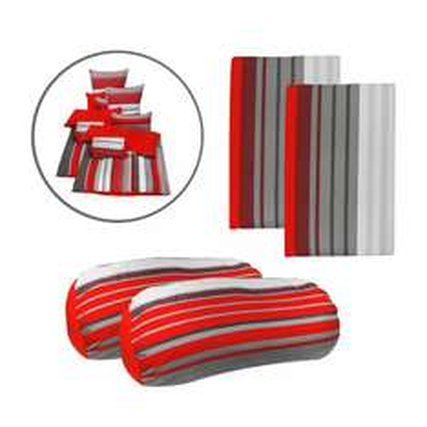 [Ebay]  Microfaser Bettwäsche Set Rot 10tlg