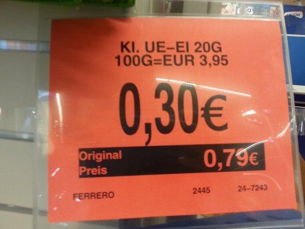 Ü-Ei für 0,30€ bei Toysrus in Isernhagen