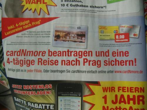 Card n More Karte beantragen + 4-tägige Luxusreise nach Prag gratis - komplett lau-