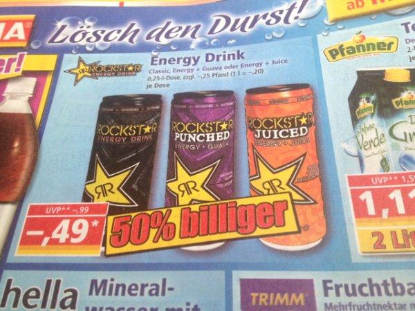 Rockstar Energy. Versch. Sorten @ Norma vermutlich Bundesweit. 49 Cent plus Pfand