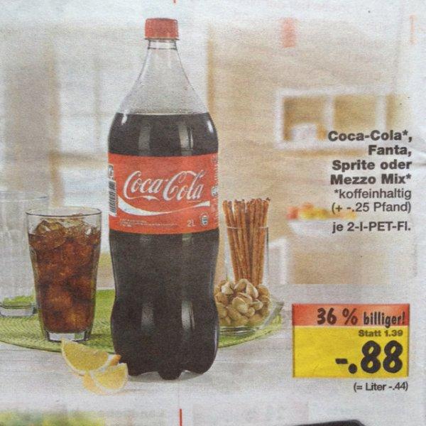 (Lokal? Teltow Berlin Lichterfelde) 2l Coca Cola für 0,88€ im Kaufland