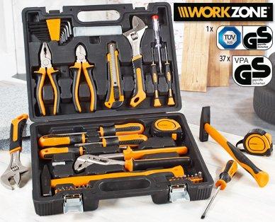 29,99 WORKZONE® Einsteiger Werkzeugkoffer 40tlg