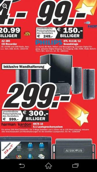(lokal Media Markt Essen) Harman Kardon HKTS16 für 299€, Vergleichspreis laut Idealo 399€