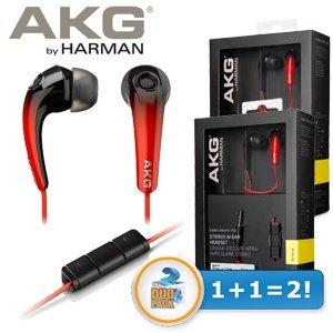 AKG K328 DOPPELPACK (2 x) in Ear Kopfhörer in der Farbe ROT (ROTTON) für 25,90 € inklusive Versandkosten, ca. 5 euro günstiger als Idealo und es ist ein Doppelpack! Also spart man ca. 30,00 €! Bis Mitternacht bestellbar!