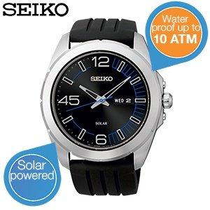 Seiko - solarbetriebene Armbanduhr SNE277P1