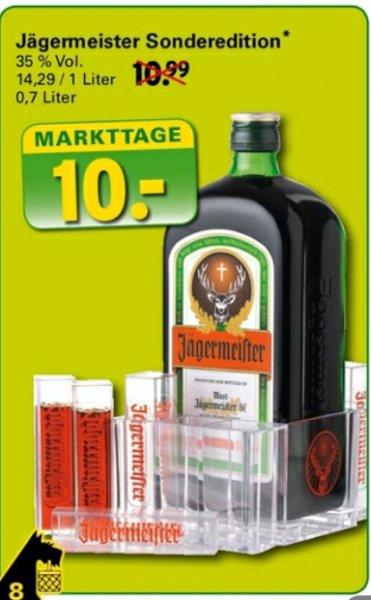 [Netto Supermarkt (Scotty) ] Jägermeister 0,7l inkl Tooterset (Reagenzgläser)
