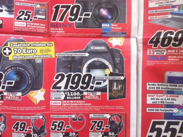 Canon EOS 5D MK III (Body) für 2.199,-- EUR