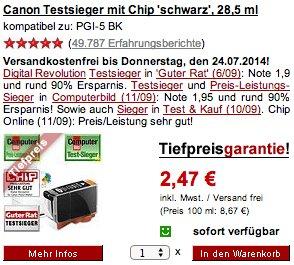 Druckerzubehoer - keine Versandkosten bis Donnerstag - zB Netzwerkkabel, CAT 5 UTP (0,5 m) 37 Cent oder andere Büromaterialien