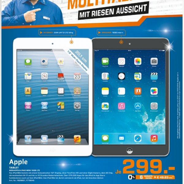 [Lokal] Saturn Herford (evtl. Bundesweit?) iPad mini 16GB LTE für 299€