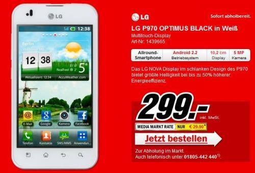 LG Optimus P970 in weis bei MM [LOKAL??] 299€
