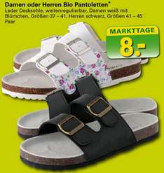 [NETTO MIT SCOTTI] BIO Pantoletten, Hausschuhe für Sie und Ihn bis 26.07.2014