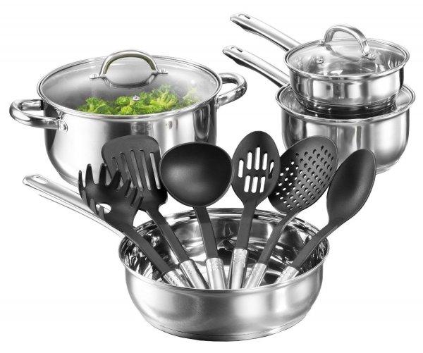 ebay: Karcher Topfset Neapel Edelstahl Induktion Kochtopfset + Küchenhelfer