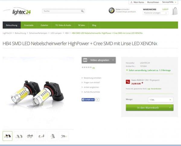 KFZ LED Beleuchtung von LighTec24 bis 50% reduziert!