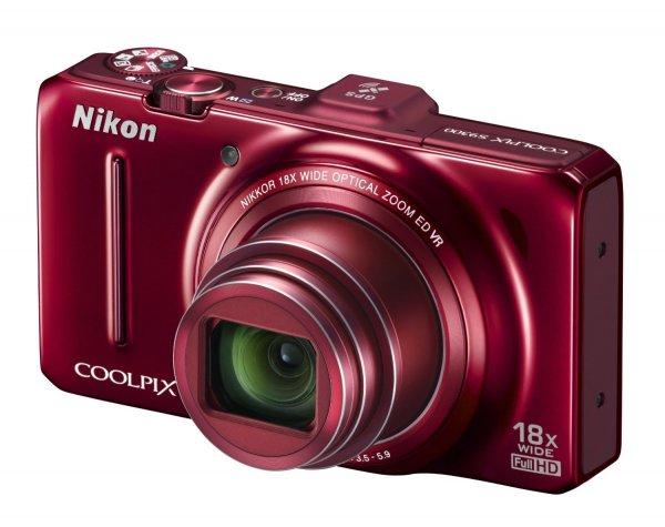 Nikon COOLPIX S9300 Digitalkamera (Rot)