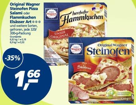 [REAL BUNDESWEIT] KW31: Wagner Steinofen Pizza oder Flammkuchen Elsässer Art 320/300g für 1,66€