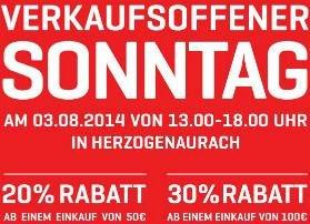 [Lokal 91074 Herzogenaurach] PUMA Outlet - Sonntag, 03.08.2014 - 13.00 bis 18.00 Uhr - 20% BIS 30% RABATT AUF ALLES