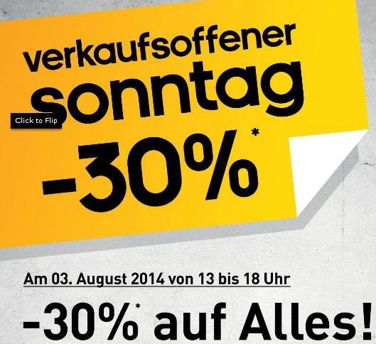 [Lokal 91074 Herzogenaurach] adidas Factory Outlet - Sonntag, 03.08.2014 - 13.00 bis 18.00 Uhr - 30% RABATT AUF ALLES