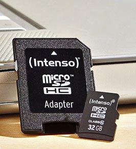 [Kaufland bundesweit] Intenso 32GB Micro SDHC Speicherkarte Class 10 Karte inklusive SDHC Card Adapter + 3 Jahre Garantie