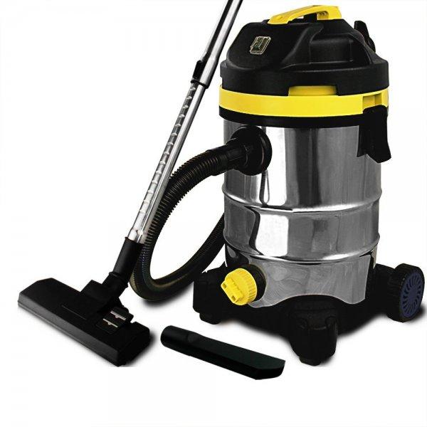 Nasssauger 30 Liter 1400 Watt aus Edelstahl - Trockensauger Staubsauger
