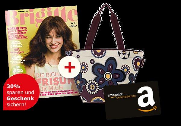 5x Brigitte für 9,80€ +10€ Amazon Prämie (+5€ Amazon via Spartanien) - effektiv bis zu 5,20€ Gewinn
