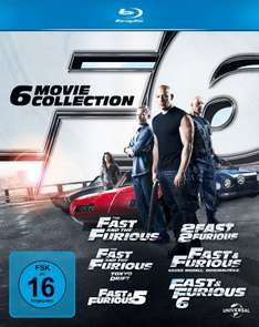 Fast & Furious 1-6 [Blu-ray] Komplettbox für 25 € @amazon