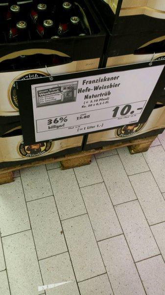 [lokal]Kaufland Gröbenzell - Franziskaner Hefe Weissbier 10 Euro