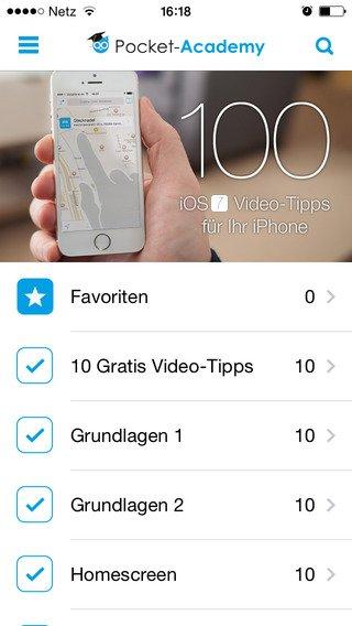 [iOS-App] 100 iOS-Tipps als Videos in Tutorial-App kostenlos