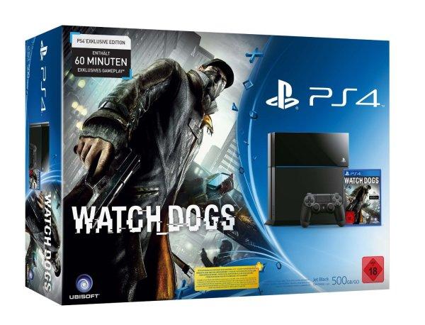 Playstation 4 Konsole + Watch Dogs Bundle
