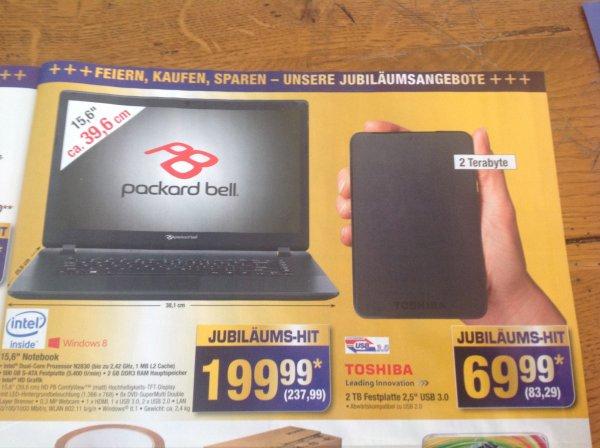 Packard Bell Notebook --  Sehr gutes Einsteigernotebook.  Metro Bundesweit
