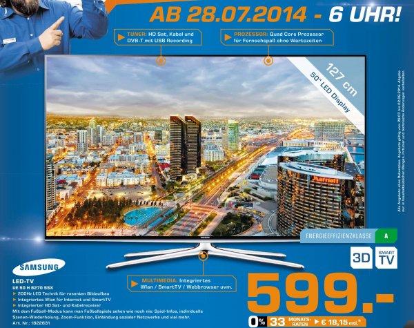 [Lokal Göttingen] Samsung 3D-LED-TV UE50H6270SSX für 599€