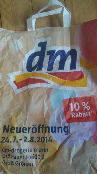 [Offline-Lübeck] dm Drogeriemarkt Groß Grönau bei Lübeck: 10% auf Alles*