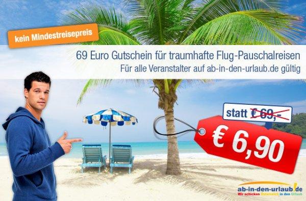 69 € urlaubsgutschein für 6,90 €