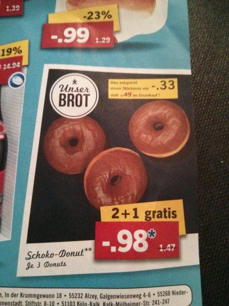 [LIDL] 3 Donuts für 0,98€ (Normalpreis: 1,47€)