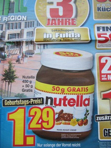[lokal/Fulda] Nutella 500g bei Möbel Buhl für 1,29