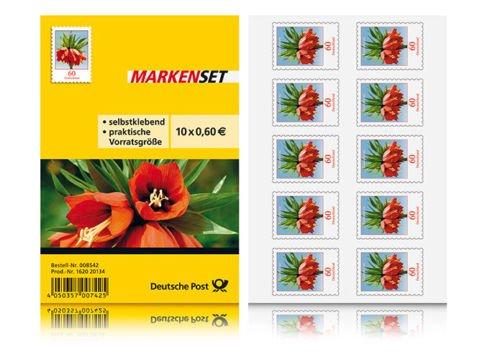 10x Briefmarken selbstklebend á 0,60€ für 5,50€ - 10% Ersparnis