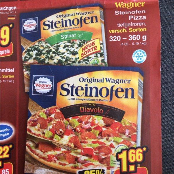[Netto ohne Hund] Wagner Steinofen Pizza versch. Sorten für 1.66 EUR