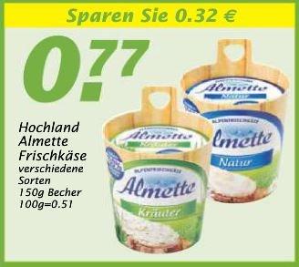 WEZ Almette Frischkäse zum Superpreis von 0,27 € !!!