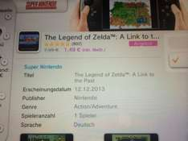 [Nintendo eShop] Wii U Version: Zelda: A Link To The Past