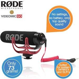 Rode VideoMic GO für 56 Euro @iBOOD