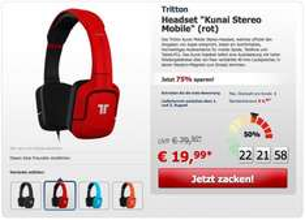 Tritton Kunai Mobile Stereo-Headset @ZackZack