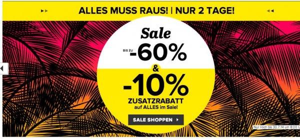 Schuhe bei Sarenza im Sale bis zu 60% Rabatt & zusätzlich 10% & keine Versandkosten