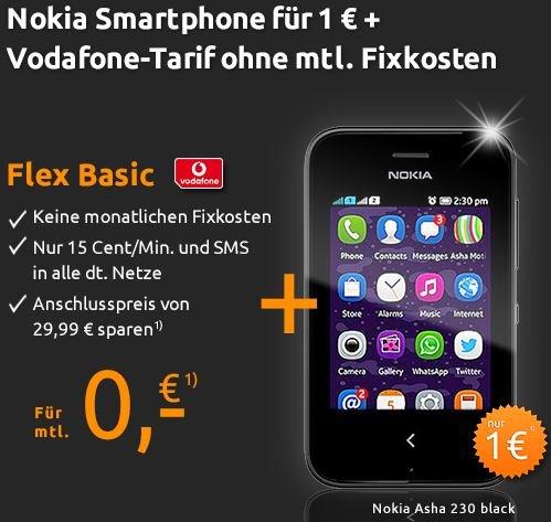 Nokia Asha 230 für 1€