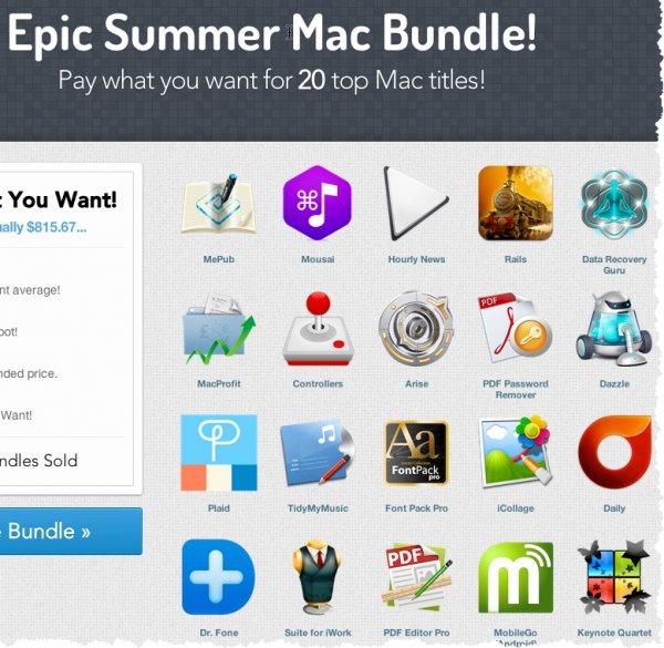 [Mac/Paddle] Epic Summer Mac Bundle - 20 Apps, Preis selber bestimmen