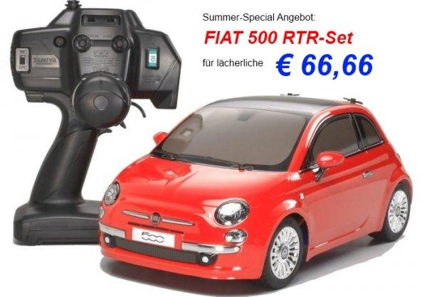 TAMIYA - FIAT 500 M-03M CHASSIS 1:10 RTR INKL. RC-ANLAGE 66,66€ + 4,99€ Vsk.