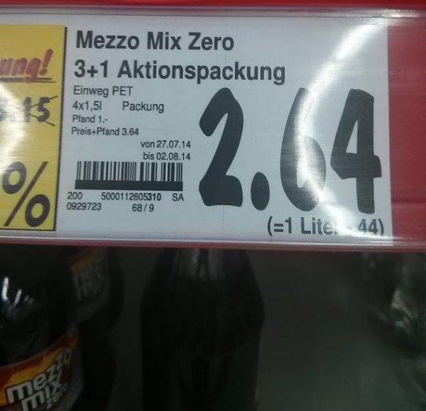 [Kaufland - Lokal?] Mezzo Mix Zero für 44 Cent je Liter
