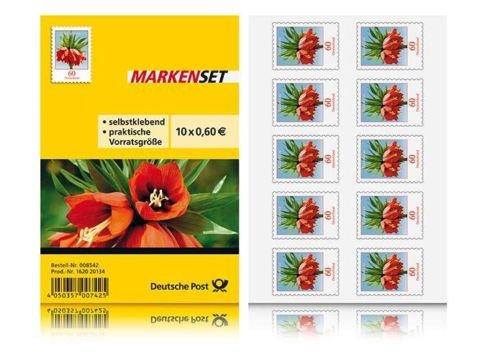 10x Briefmarken selbstklebend á 0,60€ für 5,50€