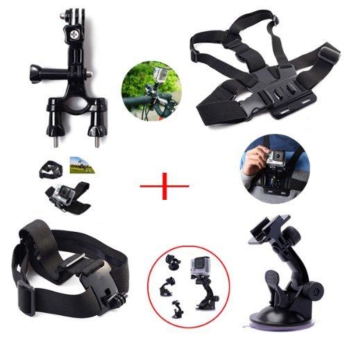 XCSOURCE ® Set Kit Satz 8 in 1 Lenkerhalter Saugnapf+ Brustgurt Kopfband+ 2x Joint+ 2x Schrauben 19,99€