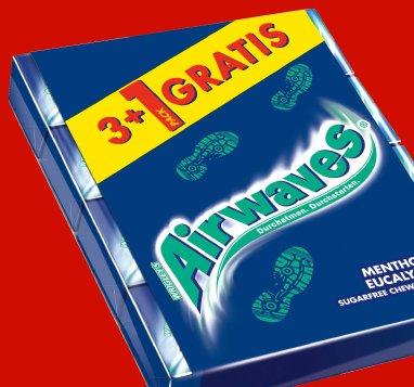 Wrigley's Airwaves verschiedene Sorten, 3+1 für 1,49€ @ Penny