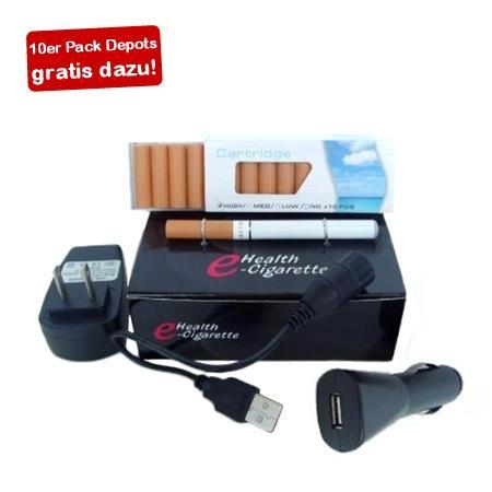 Elektrische Zigarette inklusive 10er Depotpackung